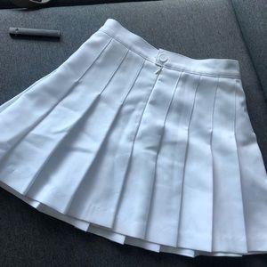 American apparel skater skirt white